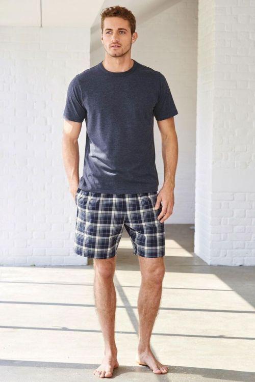 pajama shorts and t-shirt